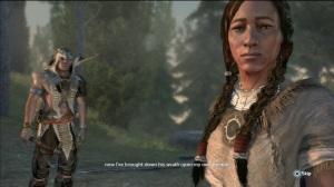 Assassin Ratonhnhaké:ton and his mother, Kaniehtí:io
